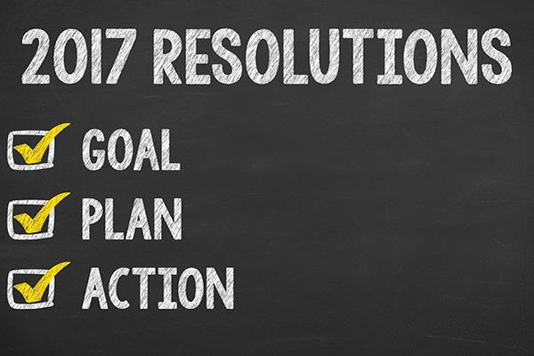 2017 resolutions chalkboard checklist graphic