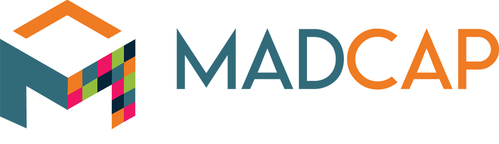 MadCap main logo light text