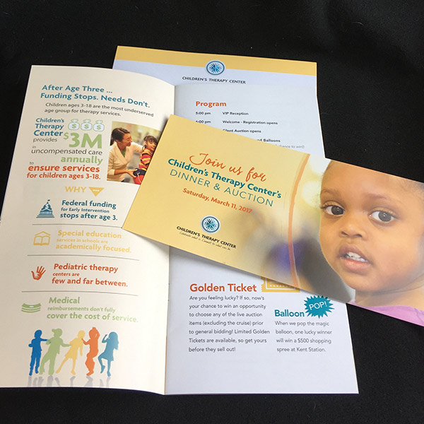 Children's Therapy Center print materials example