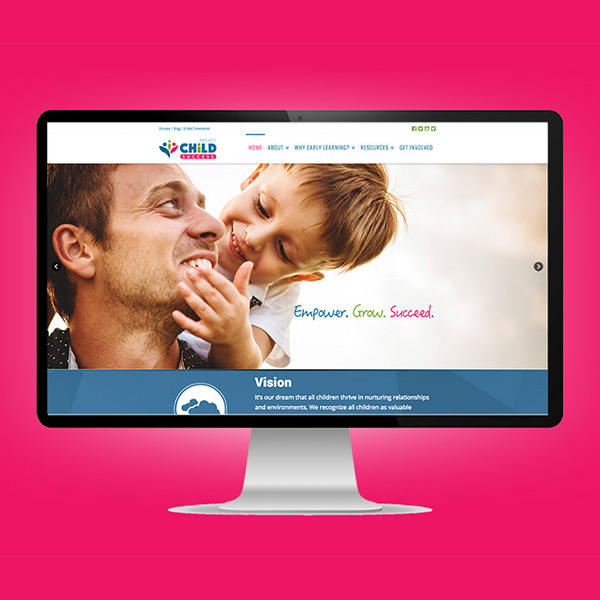 Project Child Success website preview