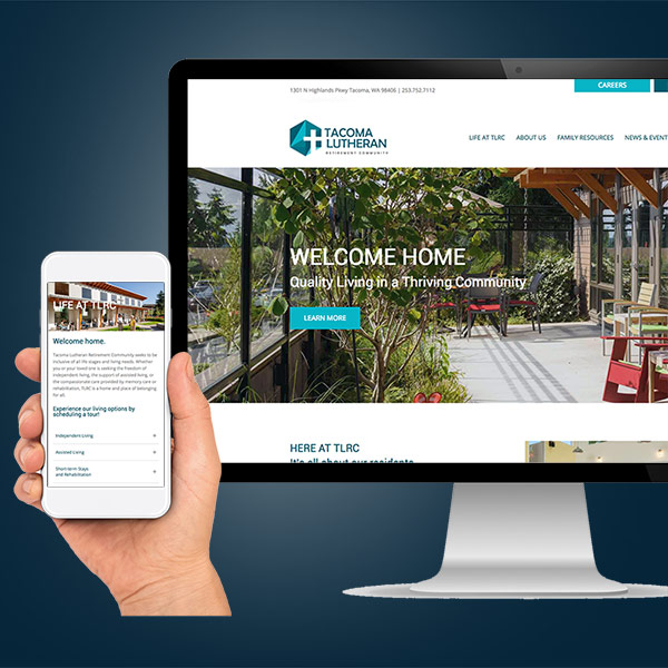 Tacoma Lutheran Retirement Community website preview