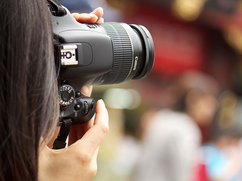Lady taking a photo
